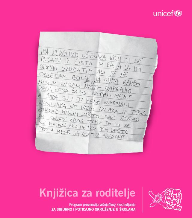 Za sigurno i poticajno okruženje u školama - knjižica za roditelje (2010.)