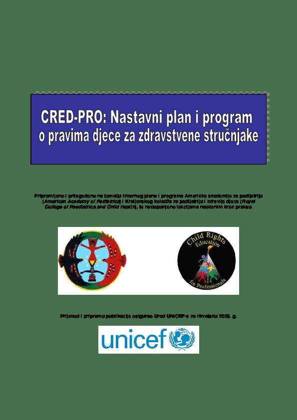 Nastavni plan i program o pravima djece za zdravstvene stručnjake (2008.)
