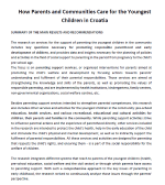 How Parents and Communities Care for the Youngest Children in Croatia - Summary (2013)