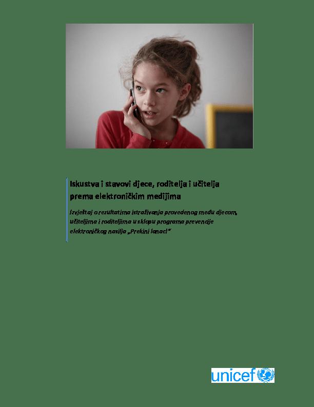 Iskustva i stavovi djece, roditelja i učitelja prema elektroničkim medijima (2010.)
