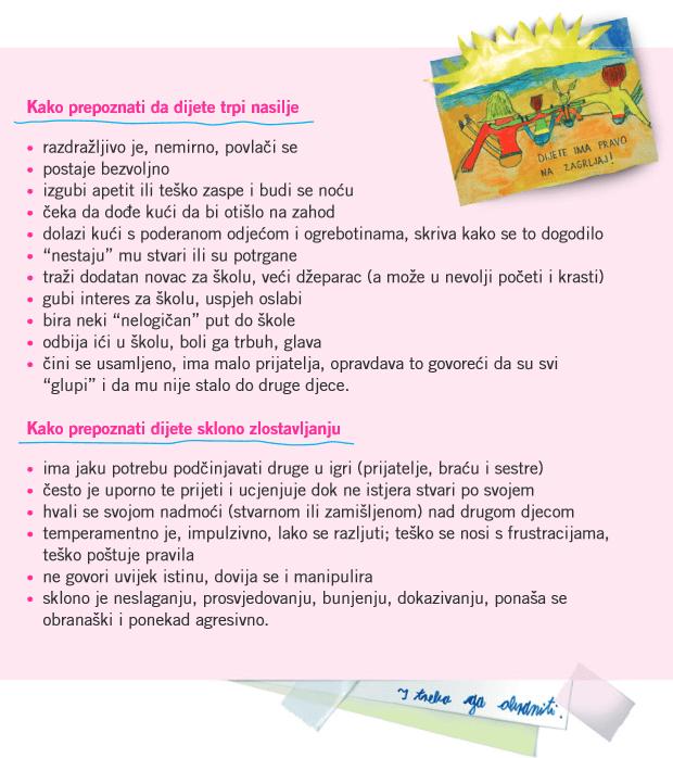 Za sigurno i poticajno okruženje u školama - letak za roditelje (2010.)