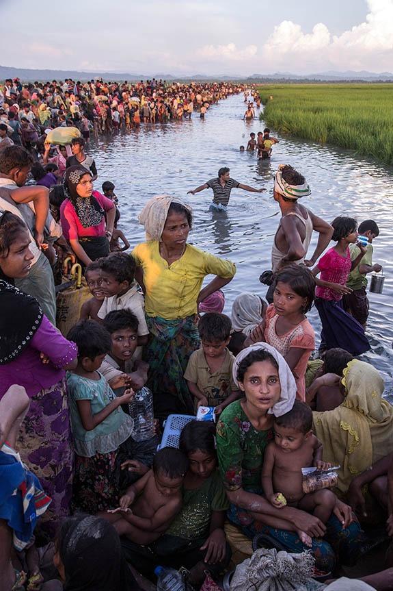 Refugees on the Myanmar-Bangladesh border