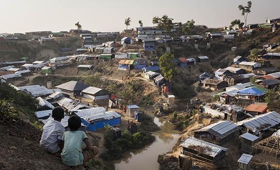 Refugee camp Baluhkali, Bangladesh