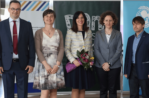 Krešimir Supanc, Director of Jure Kaštelan Primary School , Valentina Otmačić, Head of UNICEF Office for Croatia, Blaženka Divjak, Minister of Science and Education, Nina Obuljen Koržinek, the Minister of Culture and Robert Tomljenović, the deputy to the President of the Council for Electronic Media.