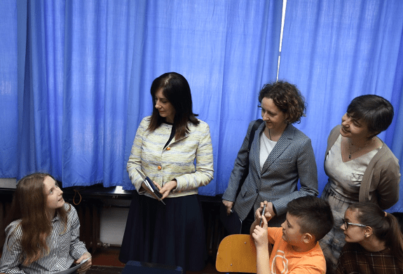 Blaženka Divjak, Minister of Science and Education, Nina Obuljen Koržinek, the Minister of Culture and Valentina Otmačić, Head of UNICEF Office for Croatia with children in school.