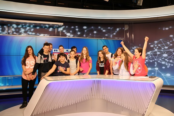 During the Media Literacy Days, pupils are visiting the leading media institutions where they are learning how news is created.