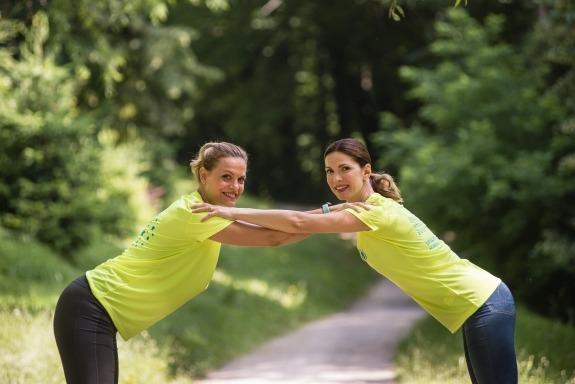 Ambasadorica ovogodišnje utrke Nevena Rendeli Vejzović i UNICEF-ova ambasadorica Bojana Gregorić Vejzović