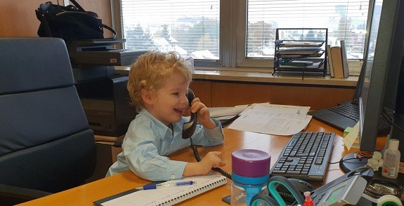 At Hrvatske vode, children took over the company's headquarters to make a few urgent phone calls