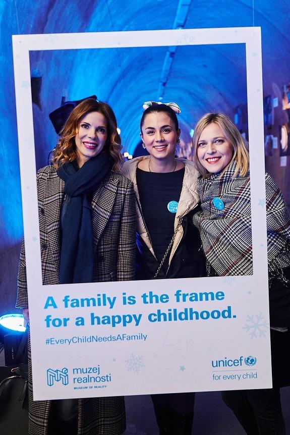 UNICEF-ove ambasadorice dobre volje Bojana Gregorić Vejzović, Mirna Medaković Stepinac i Maja Vučić.
