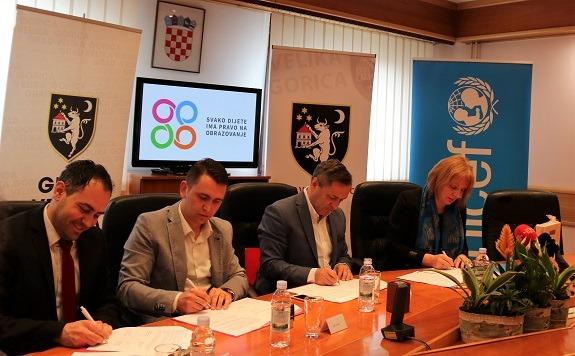 Početak uspješne suradnje Grada Velike Gorice i UNICEF-a